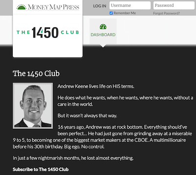 Andrew Keene on the Money Map Press Website