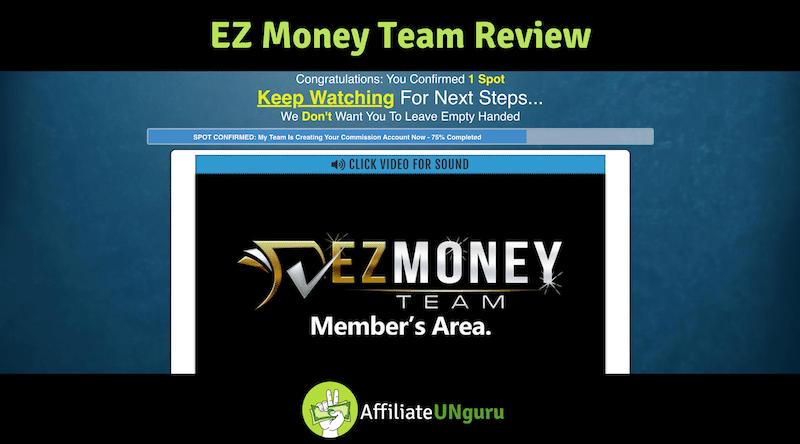 EZ Money Team Review Banner